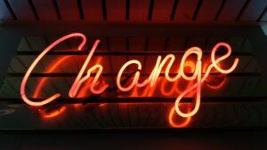 Neon Change graphic